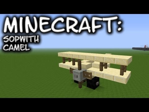 Minecraft: WWI Aircraft - Sopwith Camel Tutorial