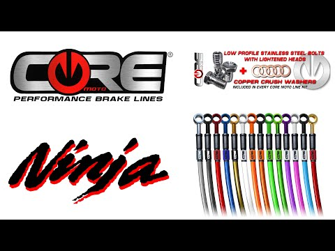 How to install Core Moto stainless steel brake lines on a motorcycle