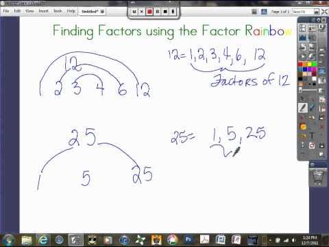 Finding Factors Using Factor Rainbow.avi