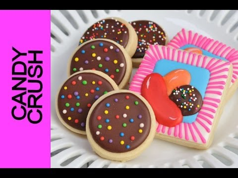 CANDY CRUSH COOKIE TUTORIAL, DECORATING WITH ROYAL ICING