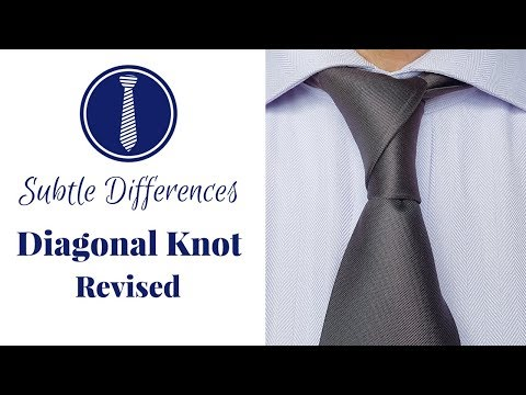 How to tie a tie: Diagonal Knot Best Instructions