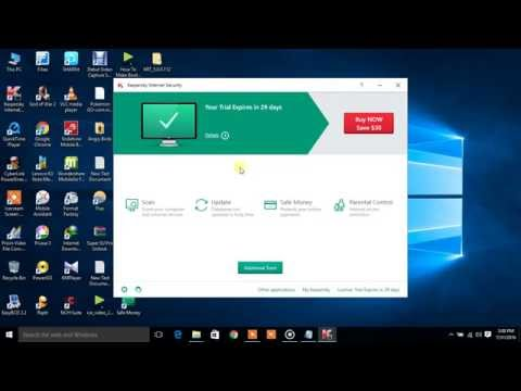 Activate Kaspersky Internet Security 2016 By 90 day trail at life time 100%Working...in 2016