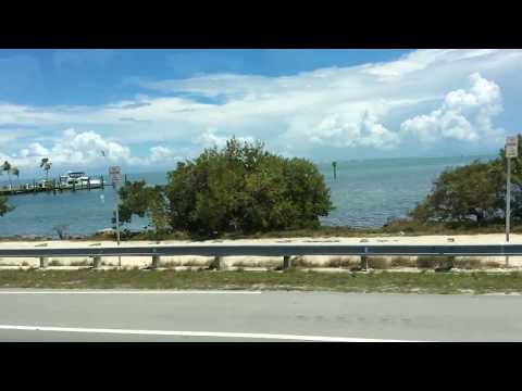 On the road by bus,from Miami to Key west ( Florida).