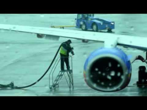 Plane Refueling at Boston Logan