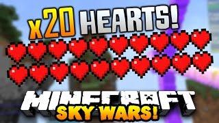 """Minecraft TEAM SKYWARS #16 """"DOUBLE HEALTH HACKER!"""" w/PrestonPlayz & LandonMC"""