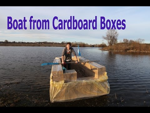 Boat from Cardboard Boxes - DIY