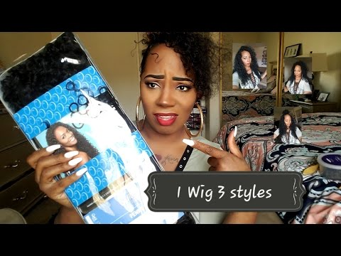 1 Wig 3 styles .. Outre Penny 26inch half wig . 17.99