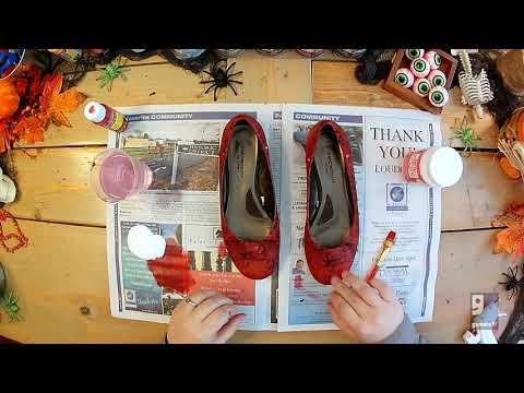 Halloween DIY Ruby Slippers