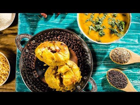 Dal Bafla - How to make Dal Bafla | Indian Veg Recipe