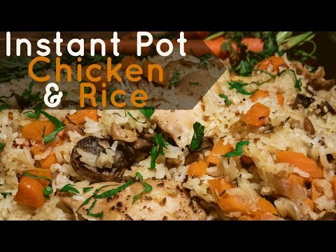 Instant Pot Chicken and Rice - Pressure Cooker Recipe