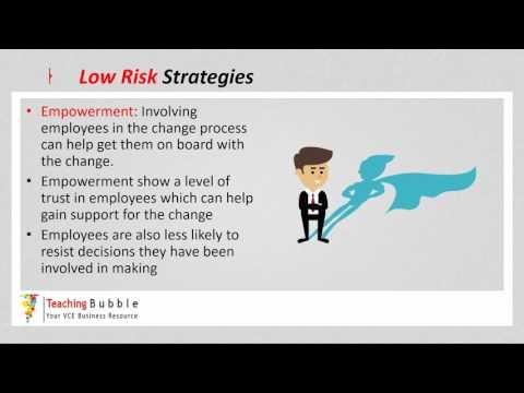 VCE Business Management - Low Risk Strategies