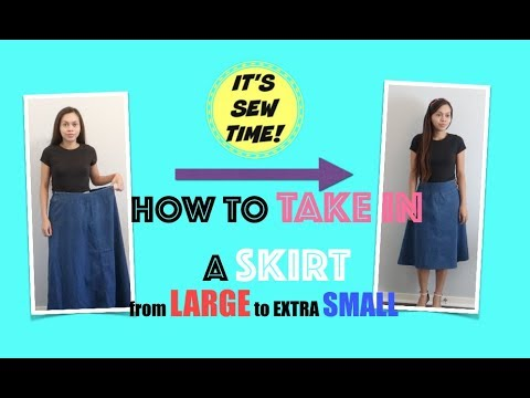 THRIFT FIND QUICK FIX: HOW TO TAKE IN A SKIRT FROM SIZE LARGE TO  SMALL