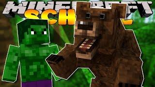 Minecraft School - CAMPING TRIP - BEAR ATTACK!