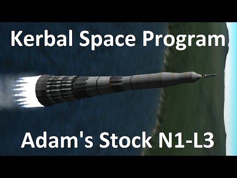 KSP - Adam's Stock N1-L3 Moon Rocket- Download