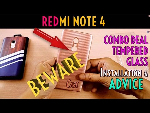 REDMI NOTE 4 ★COMBO DEAL★ Tempered Glass Installation & ADVICE, Back Cover Cases to Avoid!!