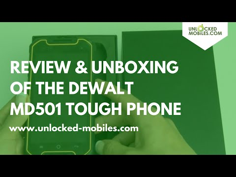 Dewalt Phone MD501 Unboxing and Review