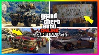 GTA ONLINE GUNRUNNING DLC HIDDEN DETAILS/SECRET FEATURES - BUNKER LOCATIONS, NEW VEHICLES & MORE!
