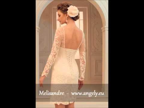 Melisandre 1 Angely 2016 Kurzes Brautkleid Hochzeitkleid