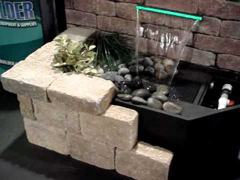 Creating a wall waterfall display