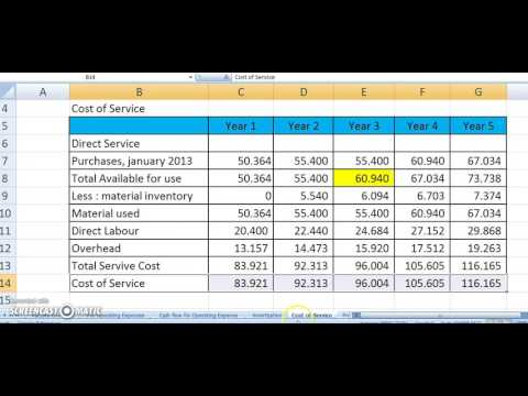 00891975525 Financial Feasibility Study 04 (Cost of Service - Income Statement)
