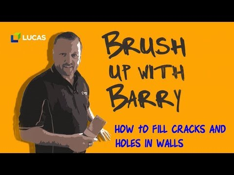 How To Fill Cracks and Holes In Walls Before Painting - Tutorial