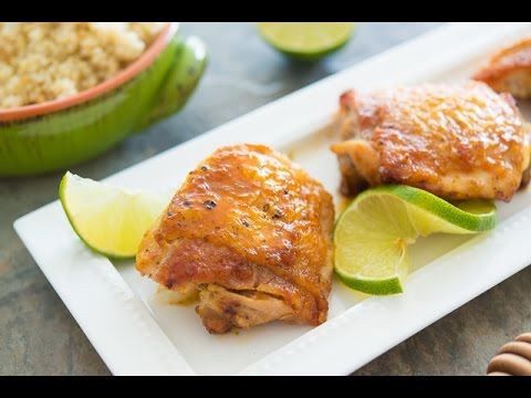 Sticky Honey Lime Chicken Recipe {quick & easy}