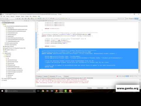 Spring MVC Tutorials 40 - Web Services 10 ( HTTP PUT, @RequestBody, Content-Type 01)