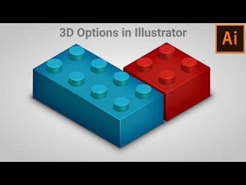Illustrate Toy Brick using 3D in Adobe Illustrator