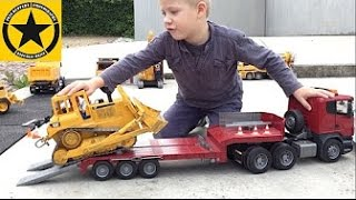 BRUDER TRUCKS Big Construction Site Heavy Equipment CONCRETE TRUCK Action by Jack (3)