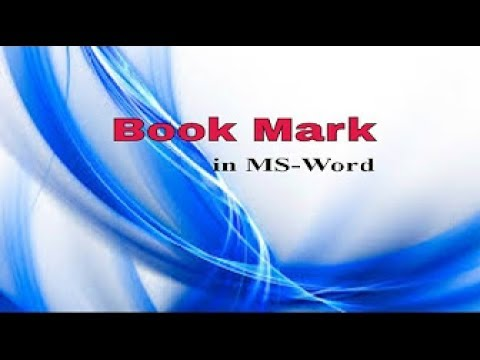 Ms Word 2007- Bookmark , Cross reference in very easy method in hindi
