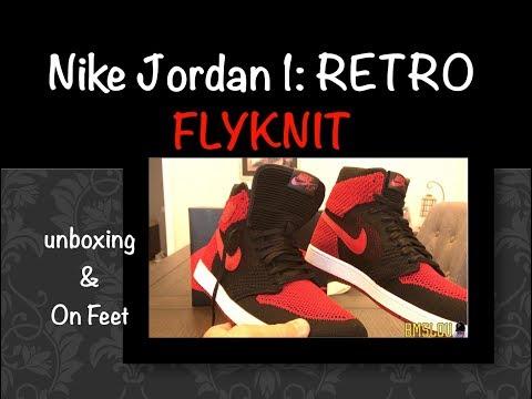 Air Jordan 1 FLYKNIT BRED Retro BANNED HI Sneaker