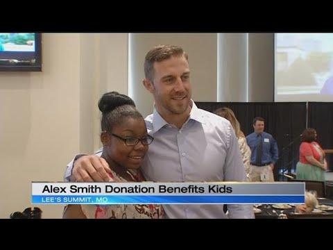 Alex Smith makes donation to benefit children