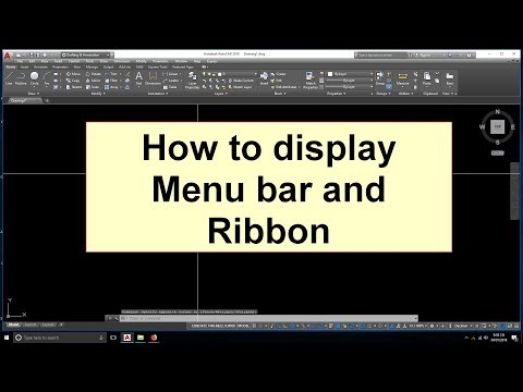 How to hide or unhide menu bar and ribbon AutoCAD