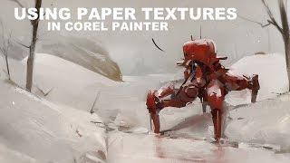 Using Paper Textures in Corel Painter