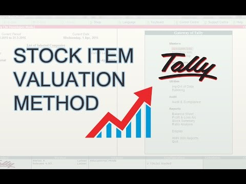 How To Change Default Stock Item Valuation Method In Tally | Inventory Valuation