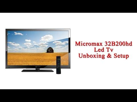 Micromax 32B200HD Led HD TV : Unboxing & Setup