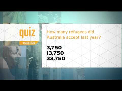 Quiz - How many refugees did Australia accept last year?