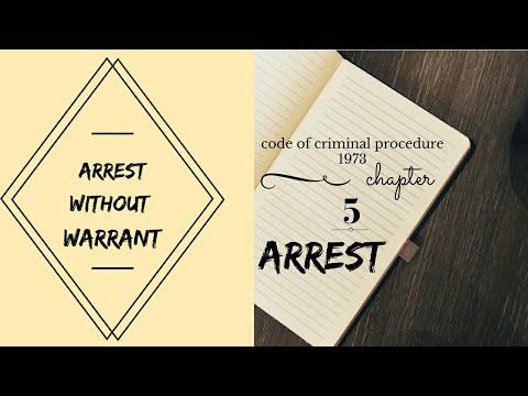 Arrest without warrant crpc sec 41,42 chapter 5