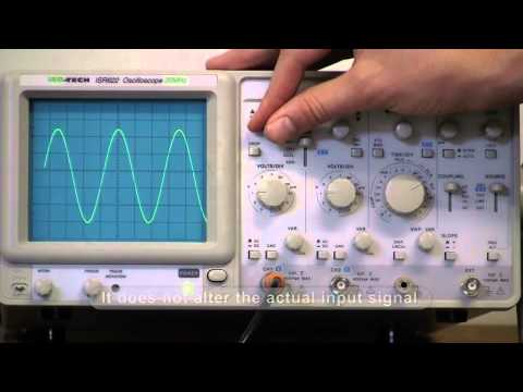 How to use an oscilloscope with an A/C source