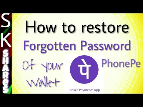 How to restore forgotten password - PhonePe Wallet