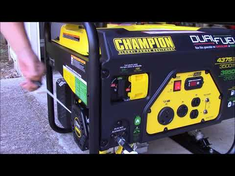 CHAMPION DUAL FUEL GENERATOR: Unboxing and first run