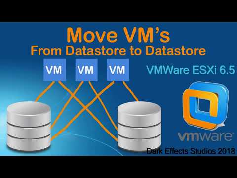 VMWare ESXi 6.5 move VM's to another Datastore