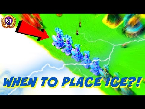 SHOULD YOU USE ICE STATUES!? When to Place Ice in Boom Beach!