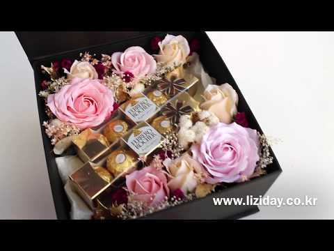 Flower Gift Box * with Ferrero Rocher Chocolate 초콜릿 플라워박스