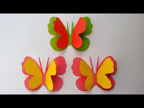 How to Make Easy & Simple Butterfly  With Colour  Paper!!!