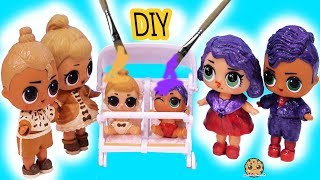 Download DIY Makeover LOL Surprise Lil Sisters Peanut Butter & Jelly Craft Painting Video