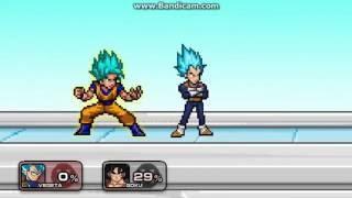 Super Smash Flash 2 Mod Bardock VS Golden Freezer