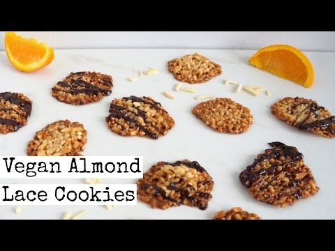 Vegan Florentine Cookies | Almond Lace Cookies