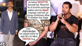 John Abraham FIGHTS With Reportar Asking STUPID Question & Makes Him Say SORRY on Camera