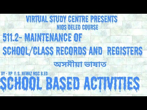 nios deled maintenance of school records and registers 511.2